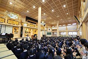 龍仙寺での道徳教育の様子